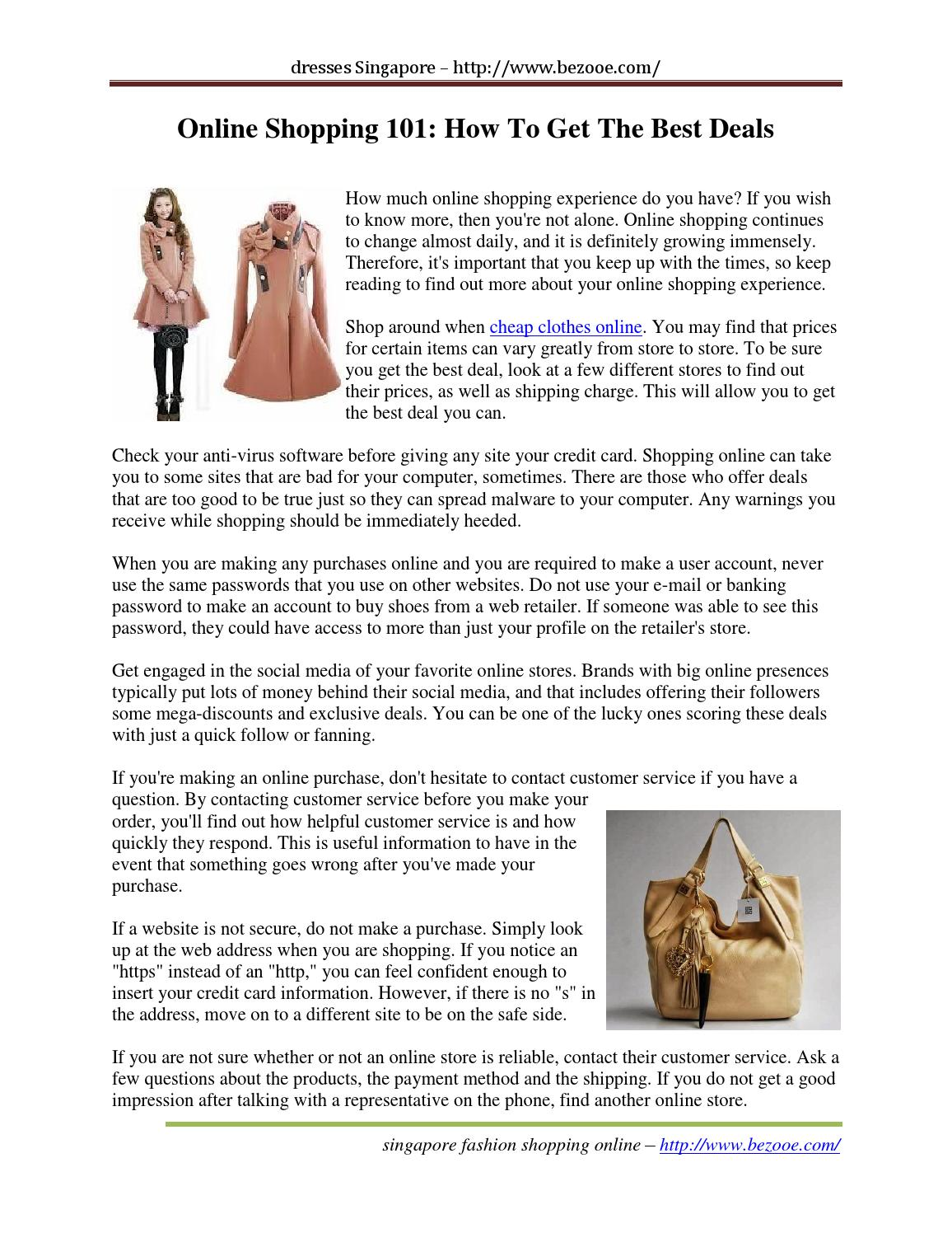 83a6d5e5db4 Online shopping 101 how to get the best deals by LissetteKohnke - issuu