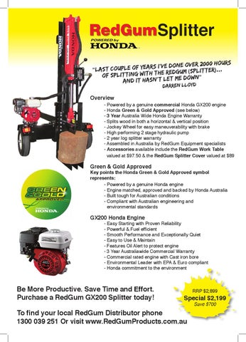 Log Splitters by Redgum Products - issuu