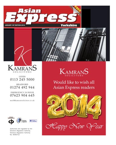 f1185738cdac Asian Express Yorkshire - January 1st Edition 2014 by Asian Expres ...