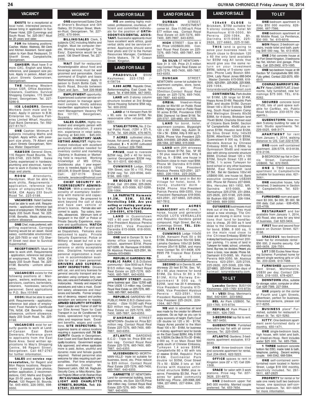 Guyana Chronicle 10 01 14 By Guyana Chronicle E Paper Issuu