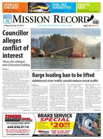 Mission City Record, January 10, 2014