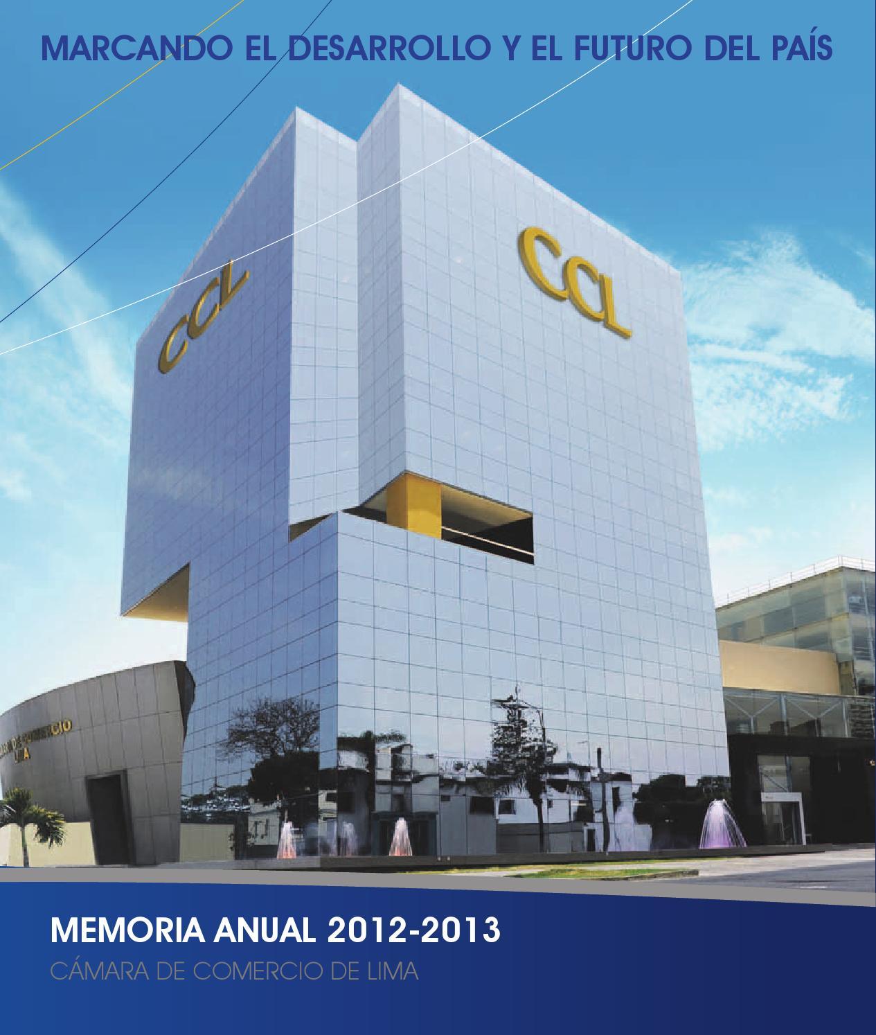 Memoria Cámara de Comercio - Lima 2013 by Cámara de Comercio - issuu 77f164662be