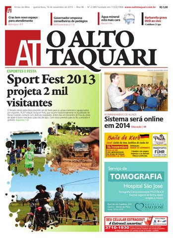 1f3d0378a9f Jornal O Alto Taquari - 14 de novembro de 2013 by Jornal O Alto ...