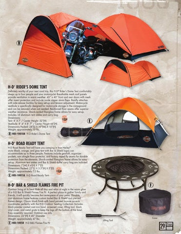 H-D RIDERu0027S DOME TENT ® & Harley-Davidson® ROADHOUSE™ Collection Spring 2014 Catalog by Ace ...