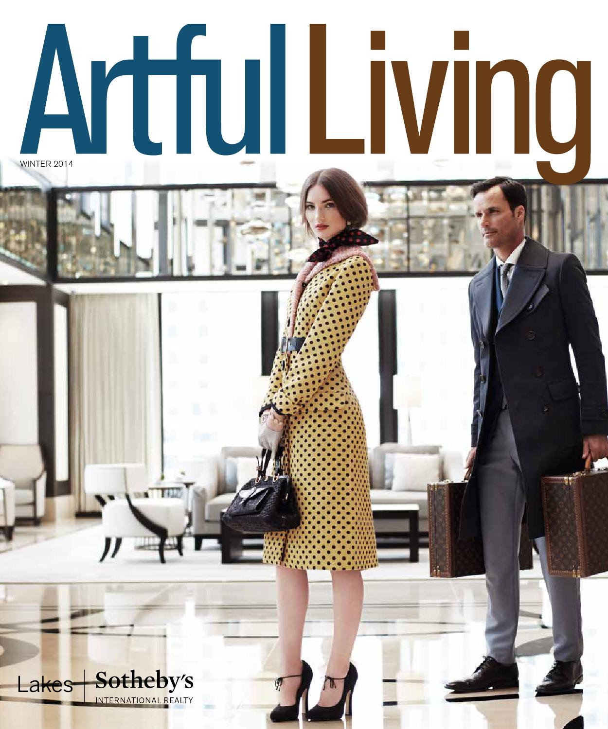 Artful Living Winter 2014 By Magazine Issuu Kate Spade Maise Swan Embossed Wing