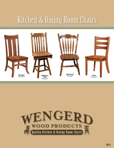 Wengerd Wood Products Catalog  Chairs Amish