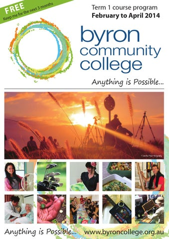 Byron community college term 1 2014 by echo publications issuu page 1 fandeluxe Image collections