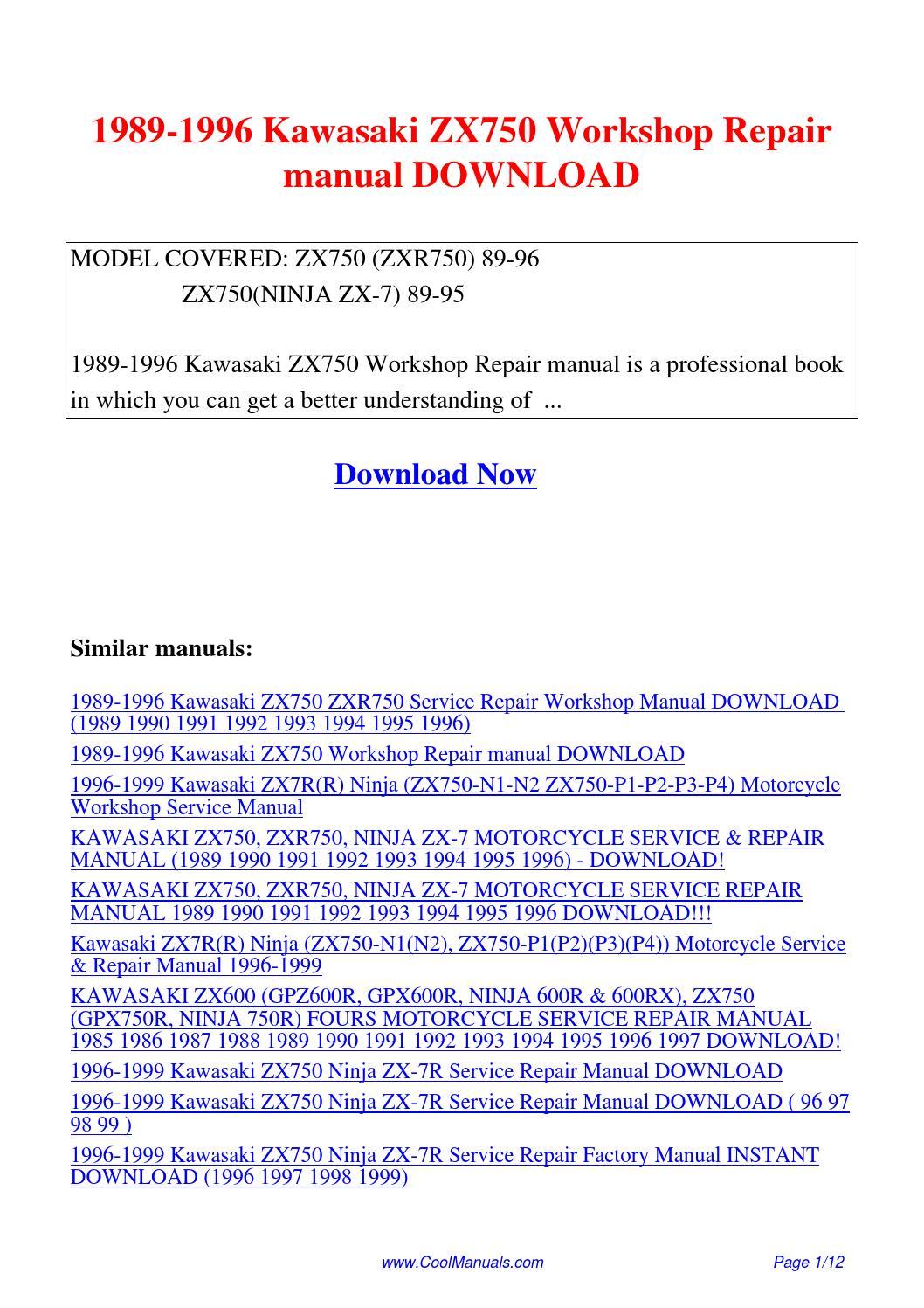 Kawasaki Zx7r Service Manual Pdf 1996 1100 Ninja Wiring Diagram Zx 7rr 7r Motorcycle