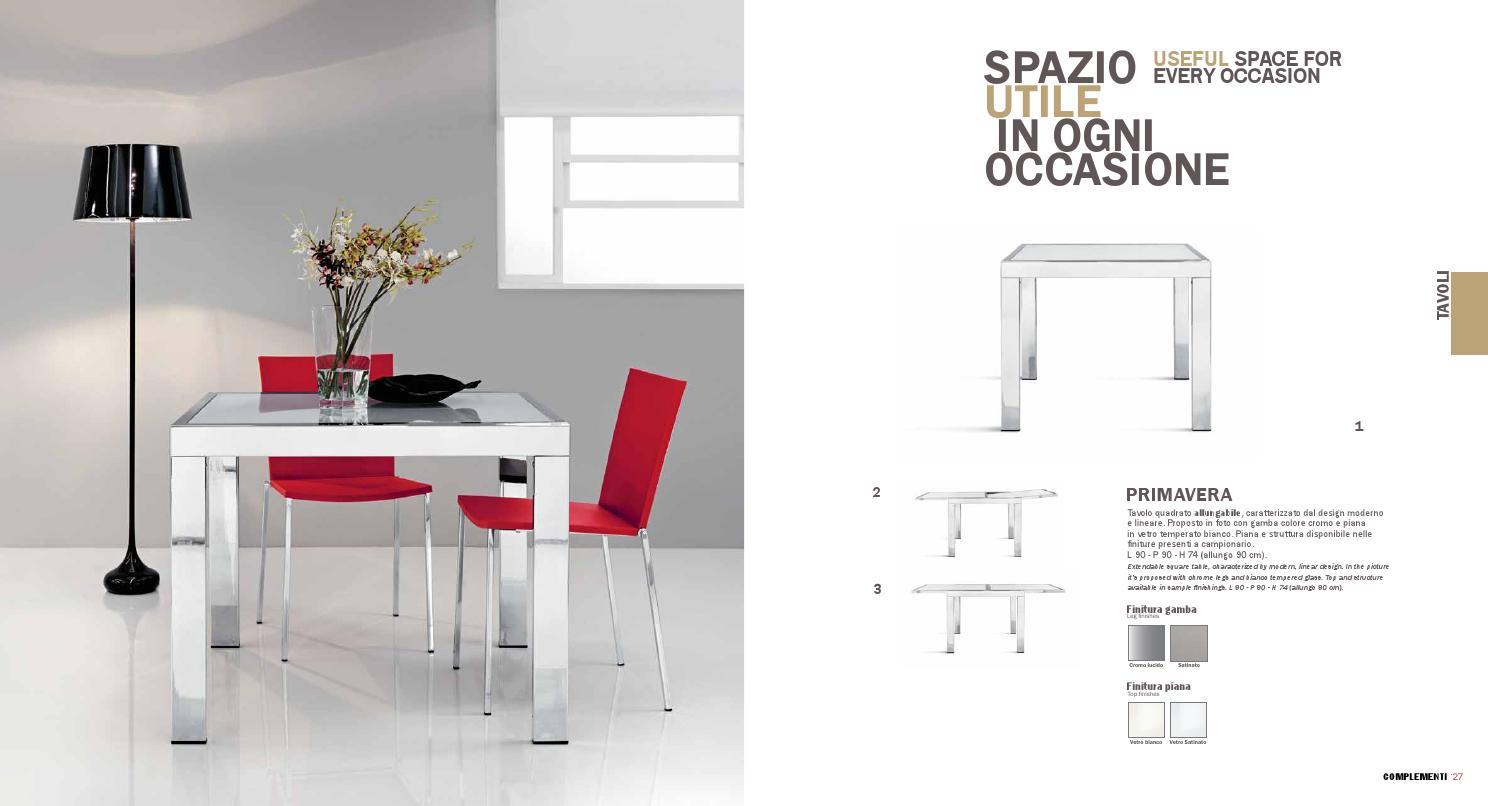 Tavolo Quadrato Allungabile Bianco.Imab Group Complementi Catalogo By Grazia Mobili Issuu