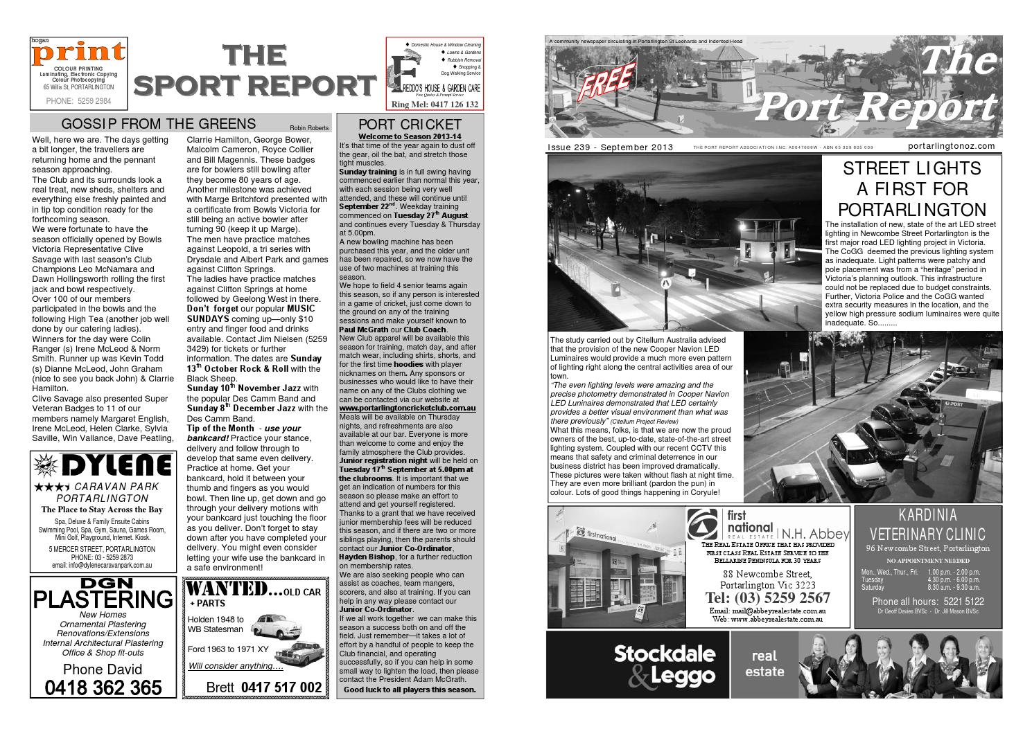 239. Port Report September 2013 by The Port Report - issuu 64ee377260d2d