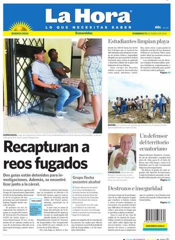 La Hora Esmeraldas del 12 de enero 2014 by Diario La Hora Ecuador ... 9463c7cfd4f