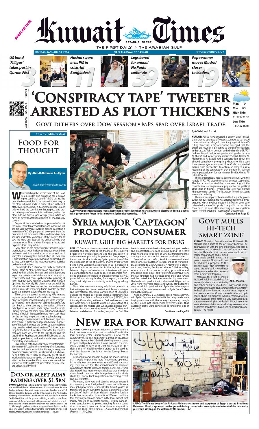 1ec7e55c082f 13 Jan by Kuwait Times - issuu