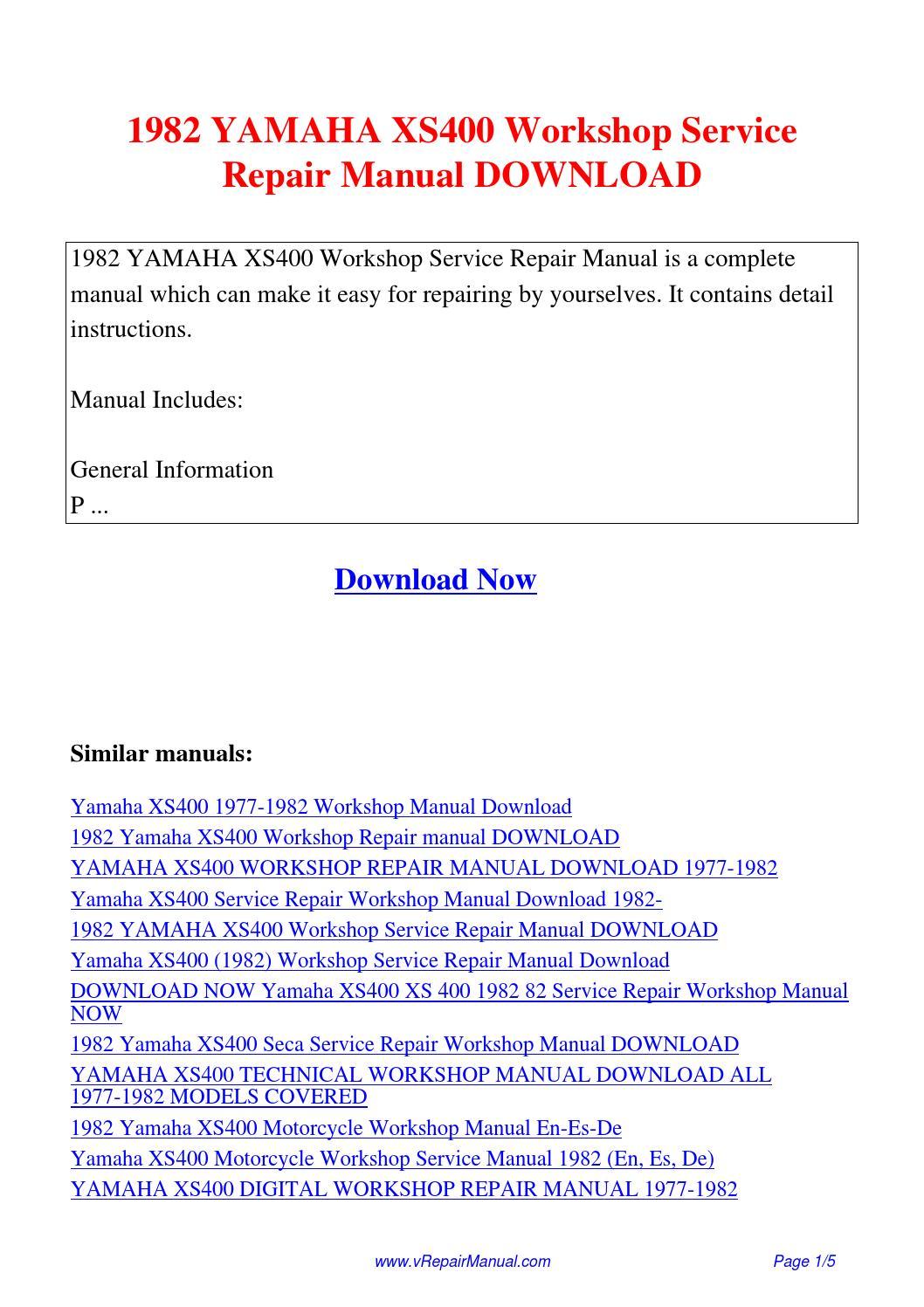 1982 Yamaha Xs400 Maxim Manual Xj750 Wiring Diagram Workshop Service Repair Pdf By David Zhang Rh Issuu Com Yics 400