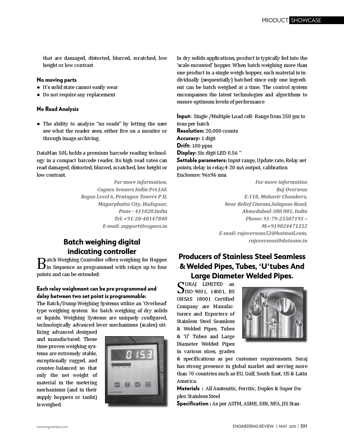 Engineering Review May 2013 by Divya Media Publications Pvt
