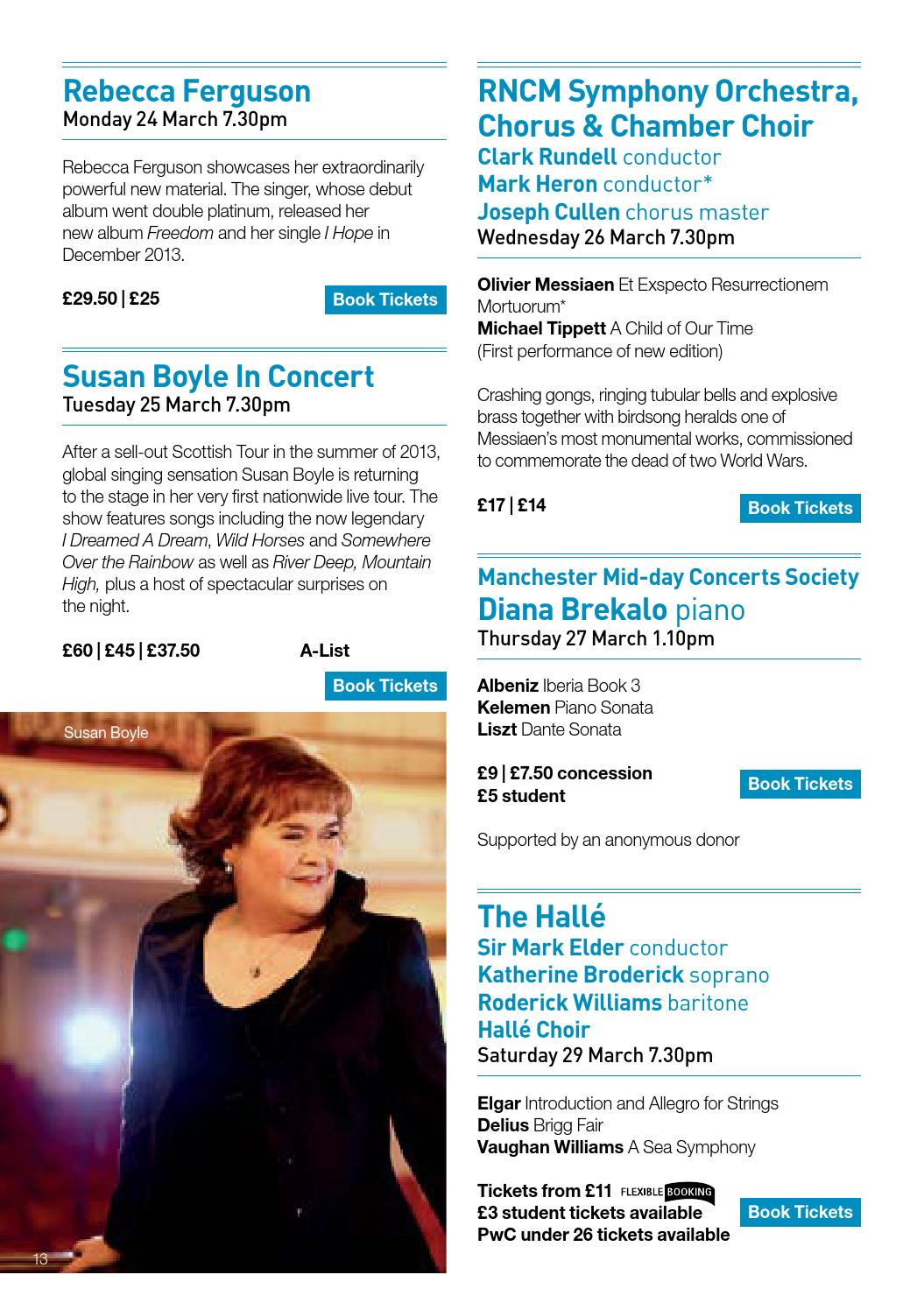 The Bridgewater Hall Guide Spring 2014 by The Bridgewater