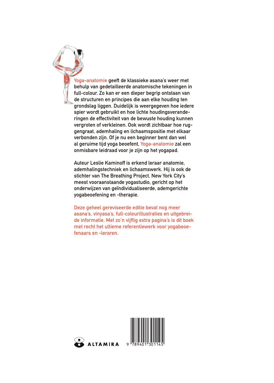 Yoga anatomie by Gottmer Uitgevers Groep - issuu