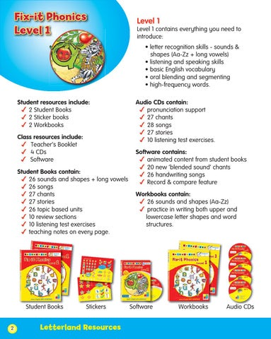 Fix-it Phonics Level 1 - Teacher's Booklet by Letterland - issuu