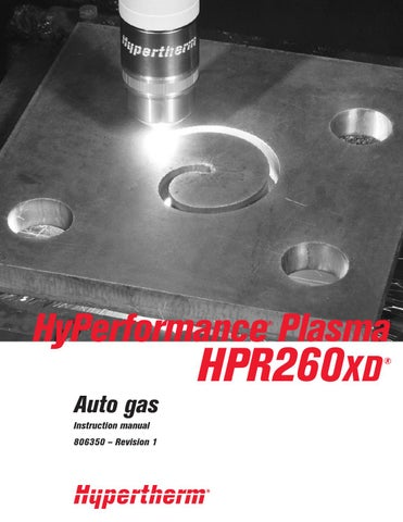 Hypertherm Plasma 260xd Auto By Gordiusz Alfa Issuu
