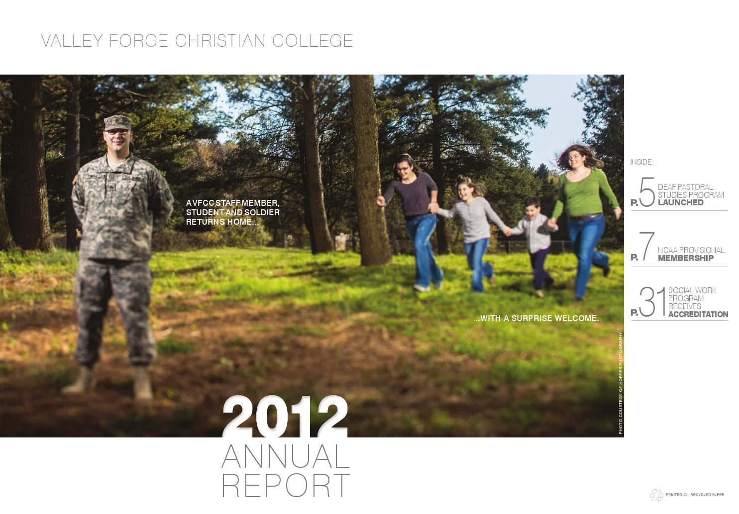 Valley Forge Christian College >> VFCC Annual Report 2012 by University of Valley Forge - Issuu