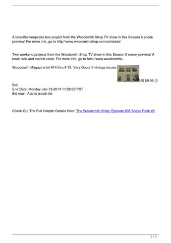 The Woodsmith Shop: Episode 605 Sneak Peek #2 by Brian - issuu