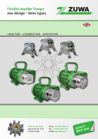 Impellerpumpe EPDM Impeller für ZUWA  Pumpe A 30 Liter Ersatz Impeller