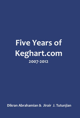 Five Years Of Keghart By Keghart Issuu