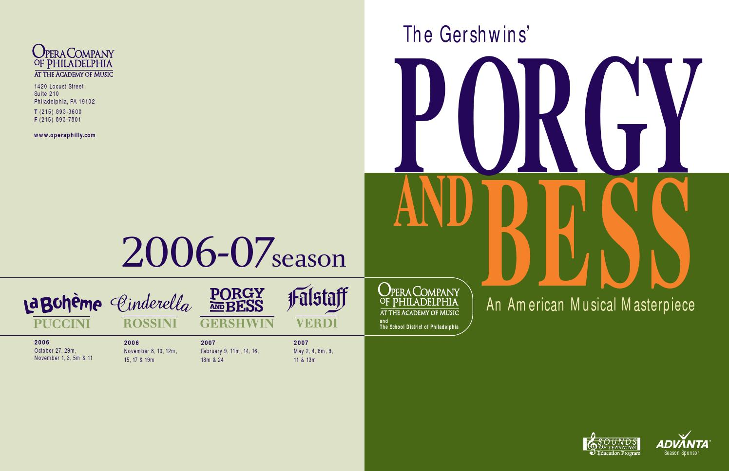Porgy And Bess Student Guide Opera Company Of Philadelphia By Drum Set Diagrams At Americanmusical Issuu