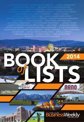 Northern Nevada Business Weekly 2014 Book of Lists by Northern Nevada Business Weekly - Issuu
