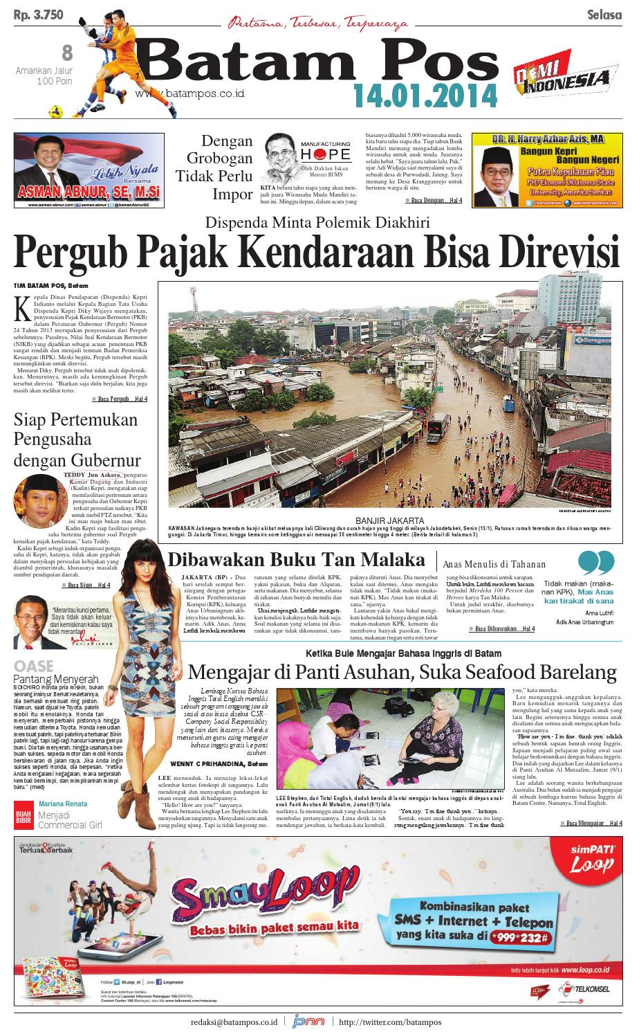 14 Januari 2014 By Batampos Newspaper Issuu Produk Ukm Bumn Tas Ransel Threepoint