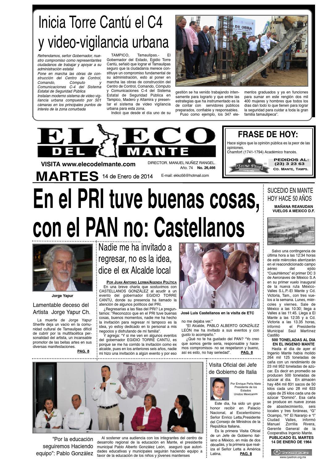 Edición 14 01 2014 by El Eco del Mante - issuu