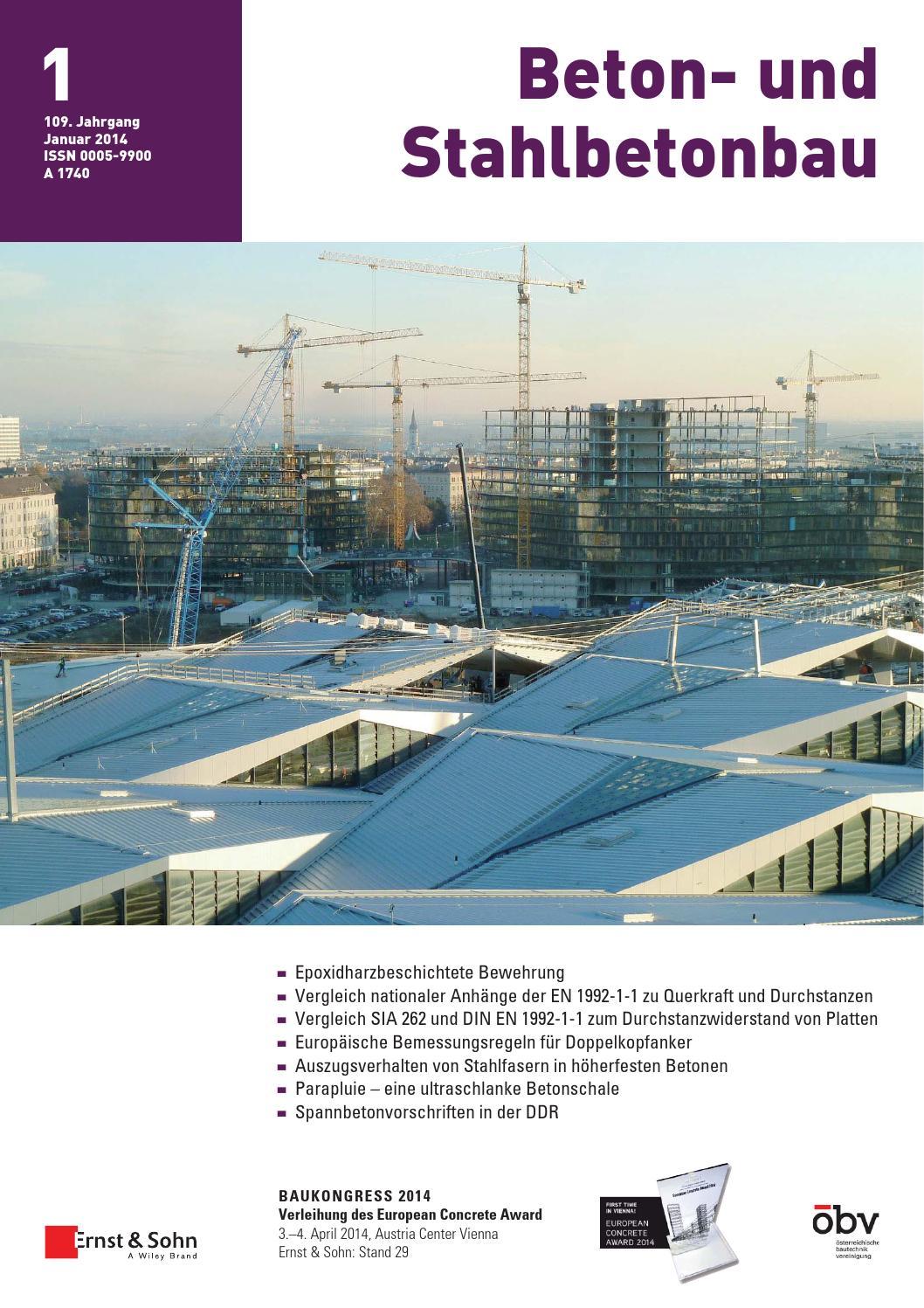 Beton- und Stahlbetonbau 01/2014 Free Sample Copy by Ernst & Sohn ...