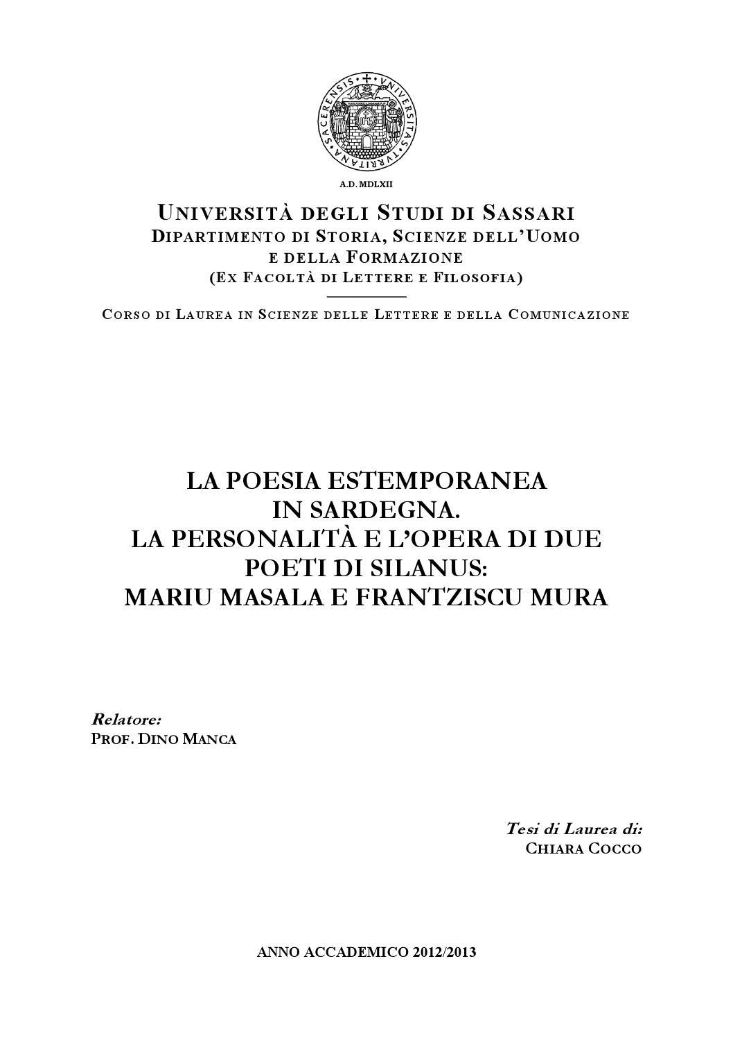 Poesie Di Natale In Sardo.La Poesia Estemporanea In Sardegna La Personalita E L Opera