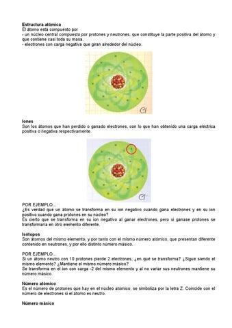 Estructura Atómica De La Materia By Aicvigo1973 Issuu