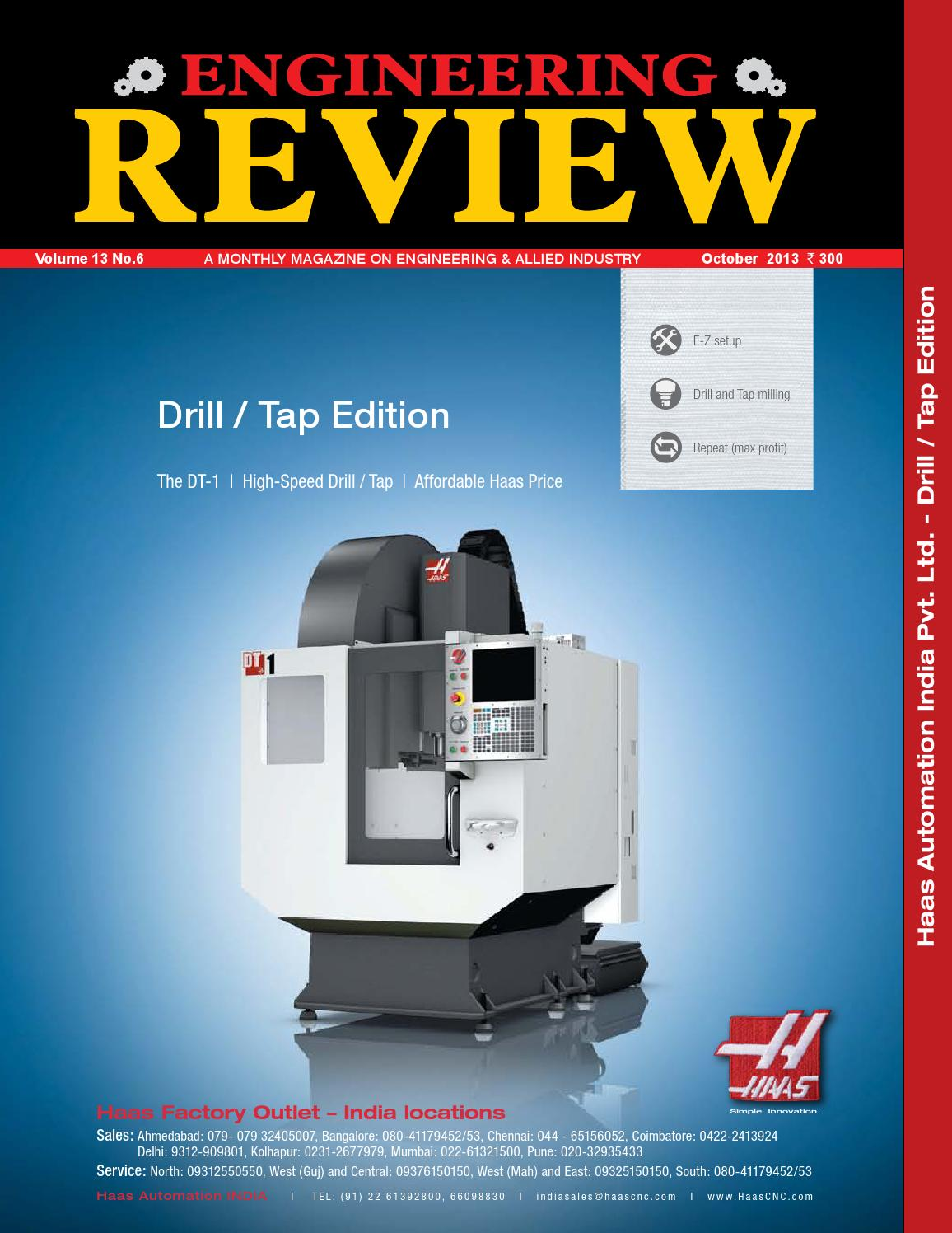 Engineering Review October 2013 by Divya Media Publications