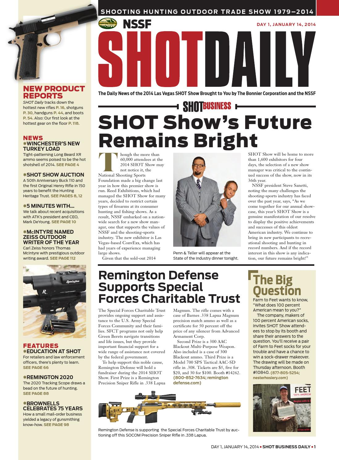 SHOT Daily 1 2014 by SHOT Business - issuu