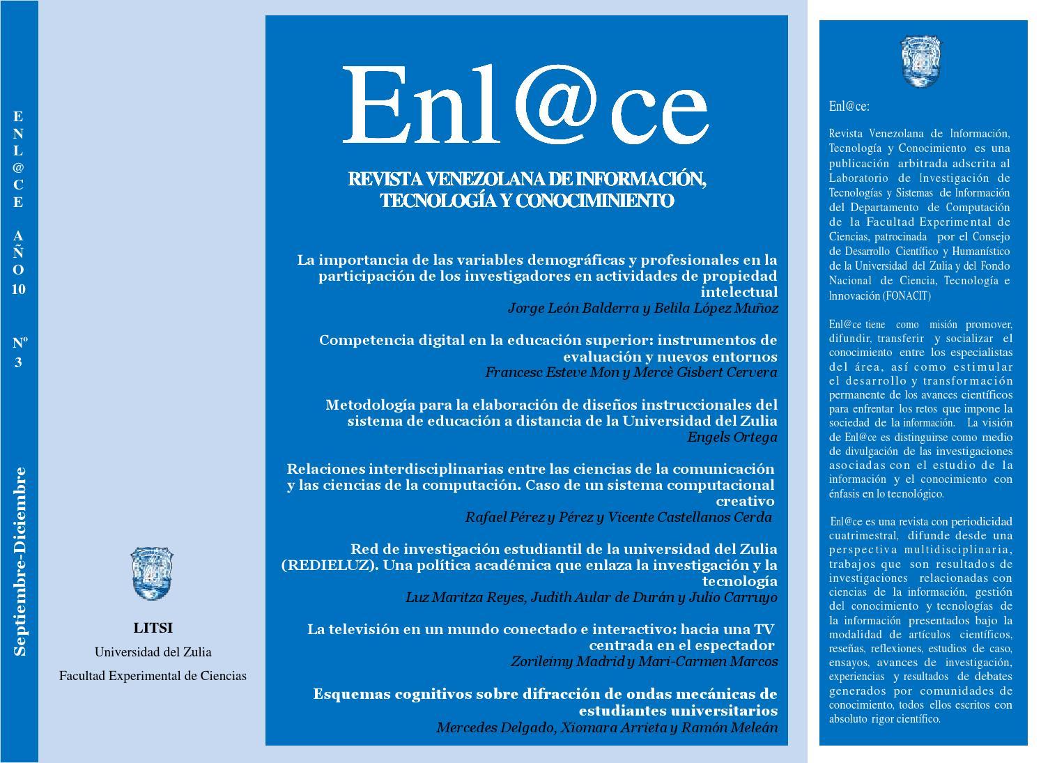 Enl@ce: Revista Venezolana de Información, Tecnología y Conocimiento ...