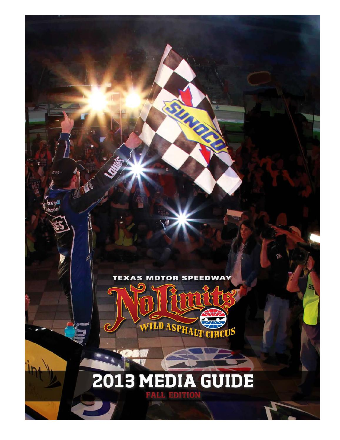 2013 Texas Motor Speedway Media Guide Fall Edition By Dave
