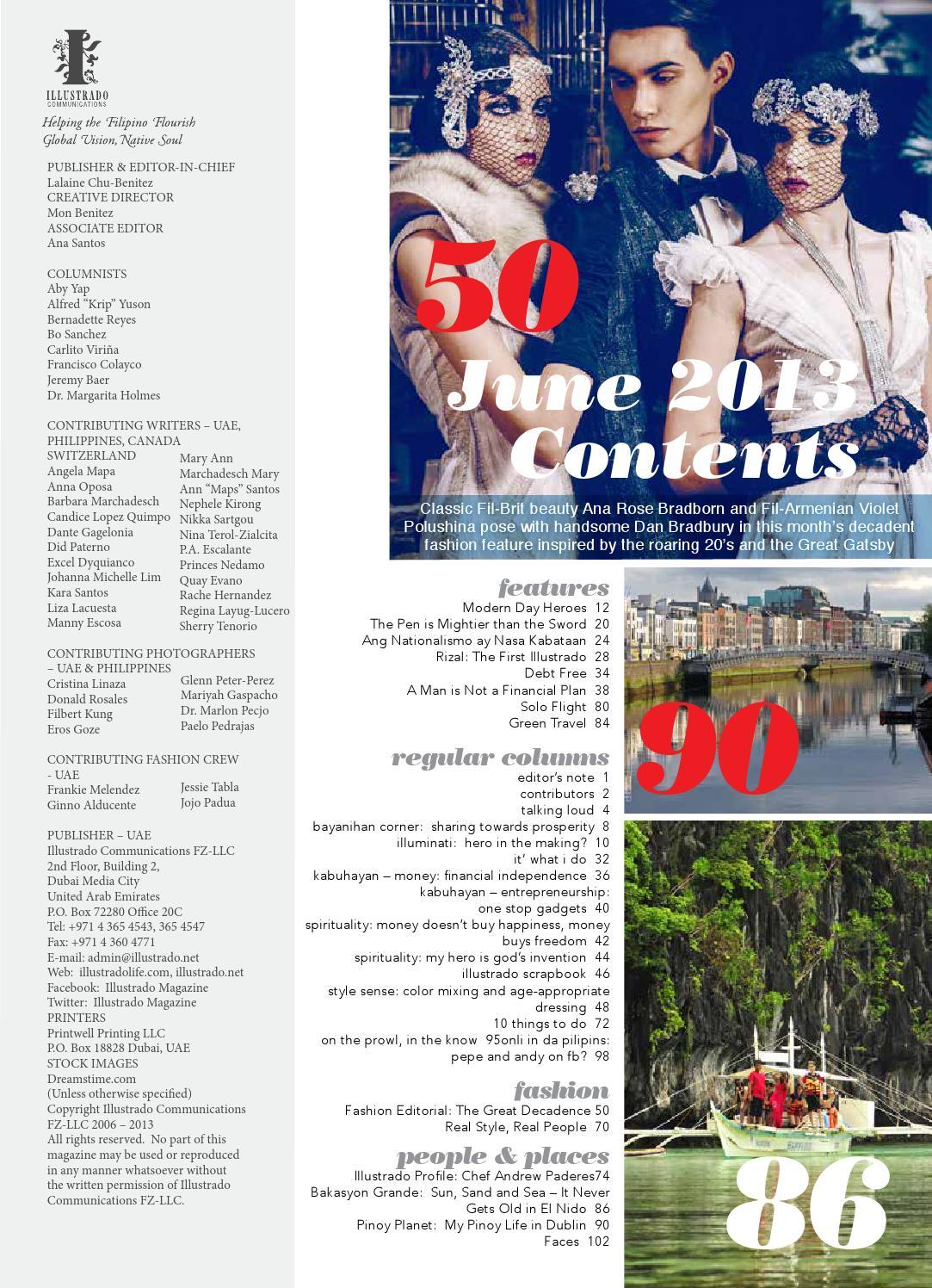 Ana Rose illustrado magazine june-july 2013illustrado magazine