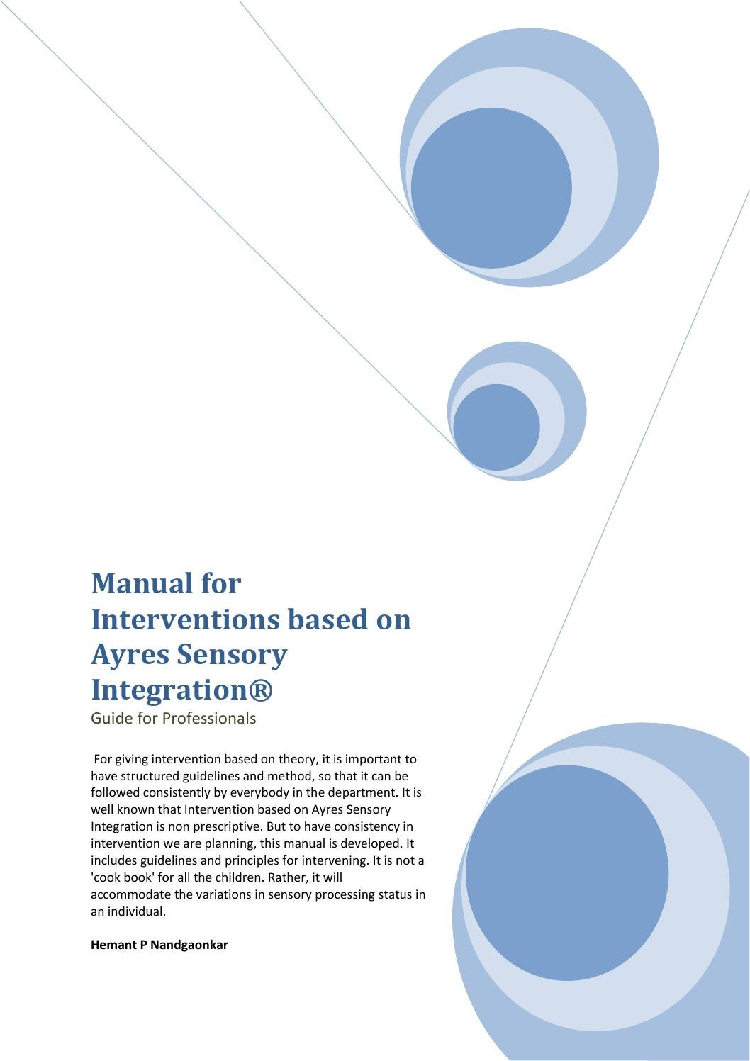 Manual for interventions based on ayres sensory integration by ...