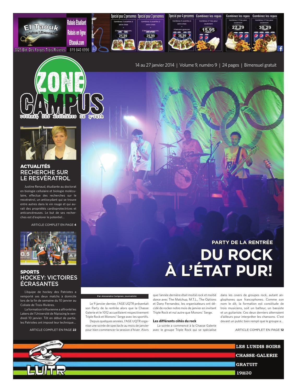 Zone Campus 14 Janvier 2014 Impression By Mathieu Plante Issuu