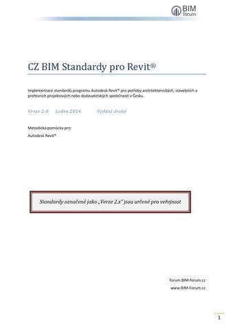 Cz Bim Standardy Pro Revit 2 0 By Bim Forum Issuu