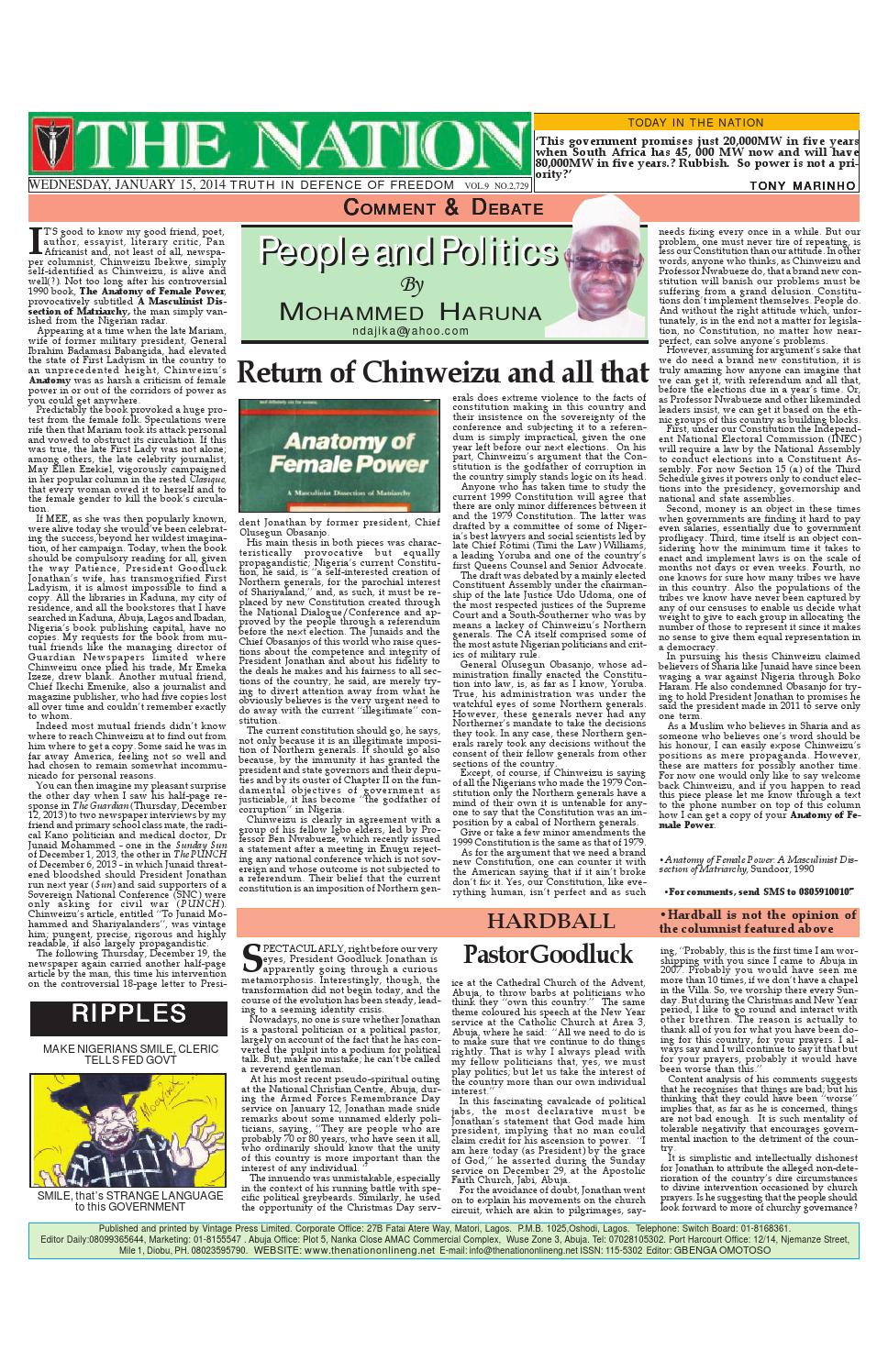 The Nation Jan 15, 2014 by The Nation - issuu