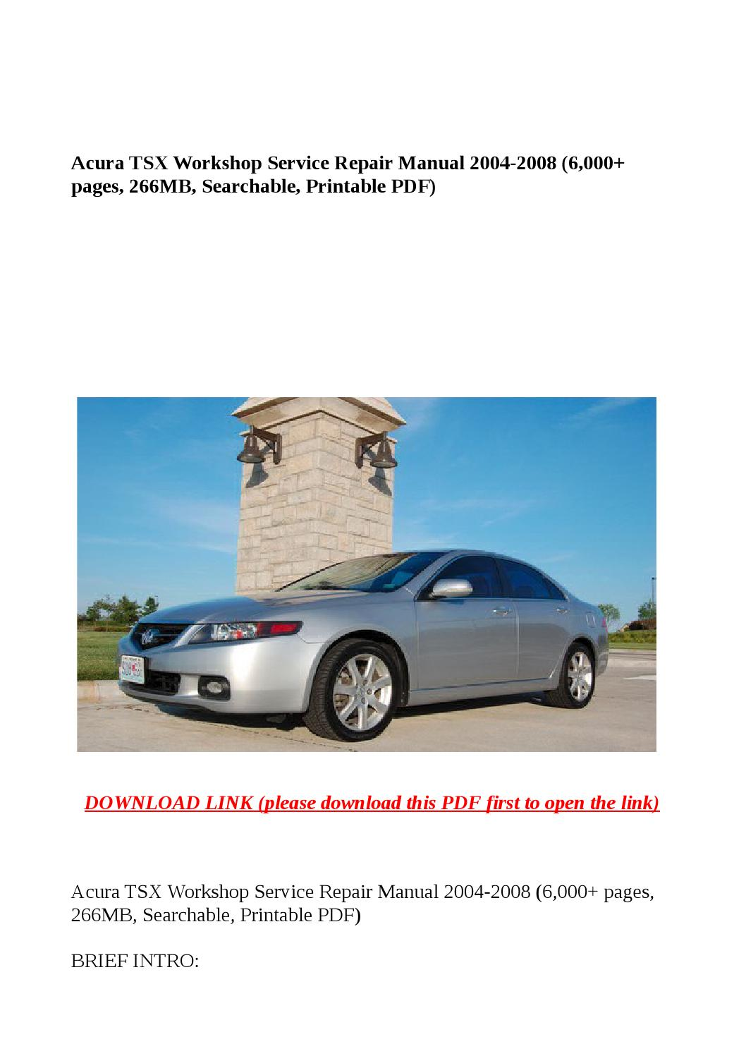 2010 Acura Tsx Manual Pdf Manual Guide