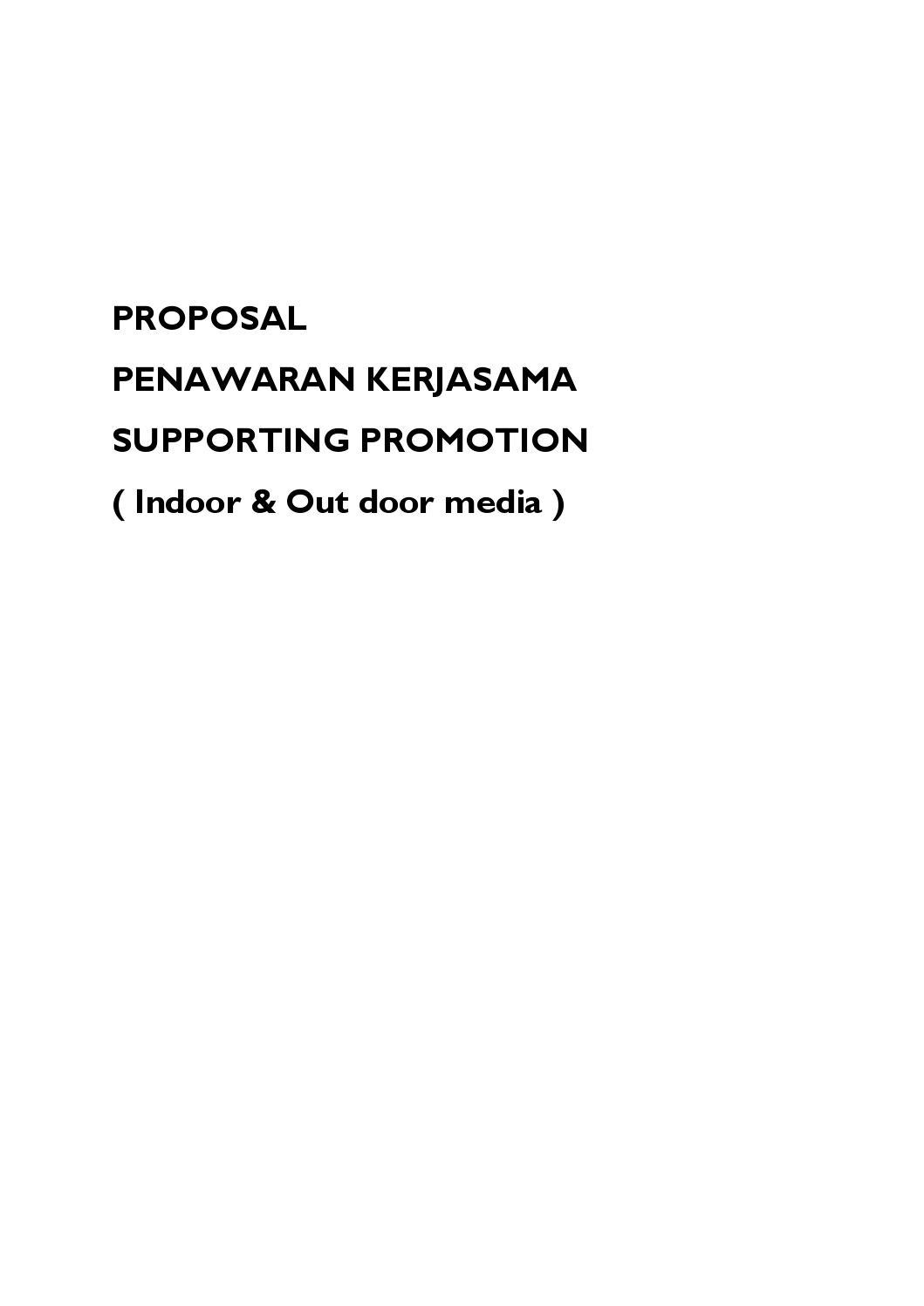 Proposal Penawaran Kerjasama By Melisa Bathia Issuu
