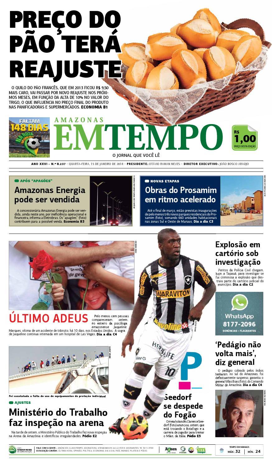 EM TEMPO - 15 de janeiro de 2014 by Amazonas Em Tempo - issuu 06bd15f295