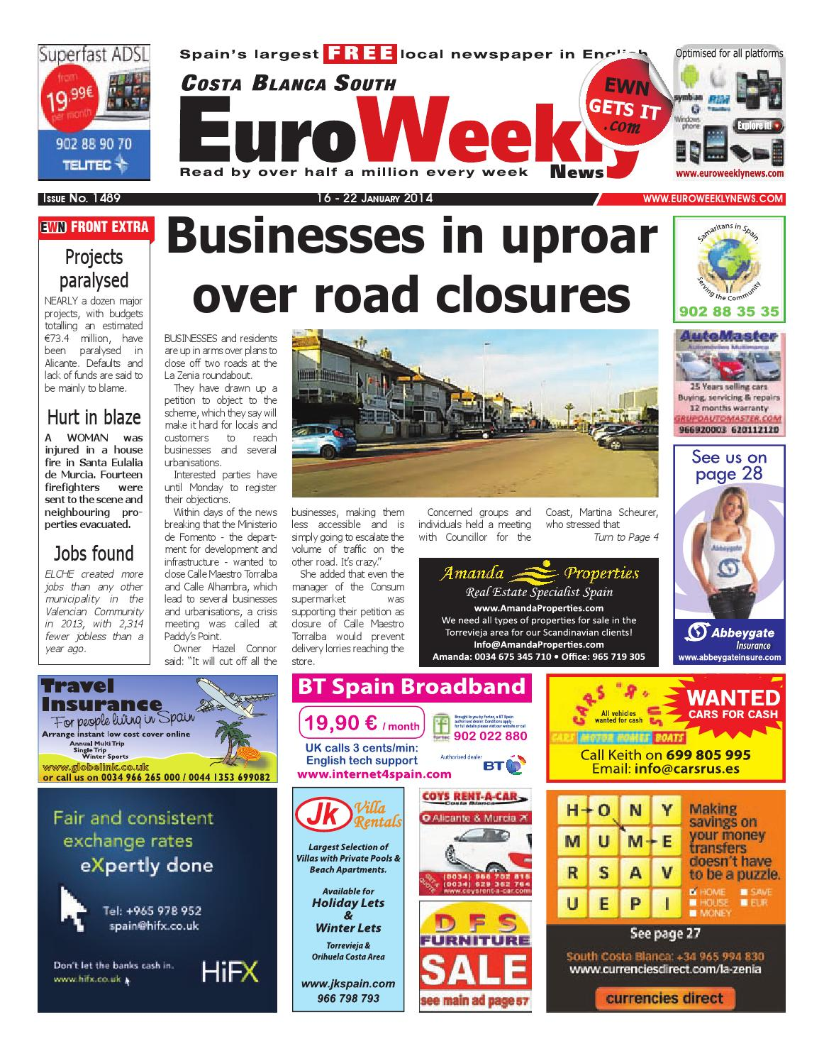 Euro Weekly News - Costa Blanca South 16 - 22 January 2014 Issue 1489 by  Euro Weekly News Media S.A. - issuu 02bc584d31b2