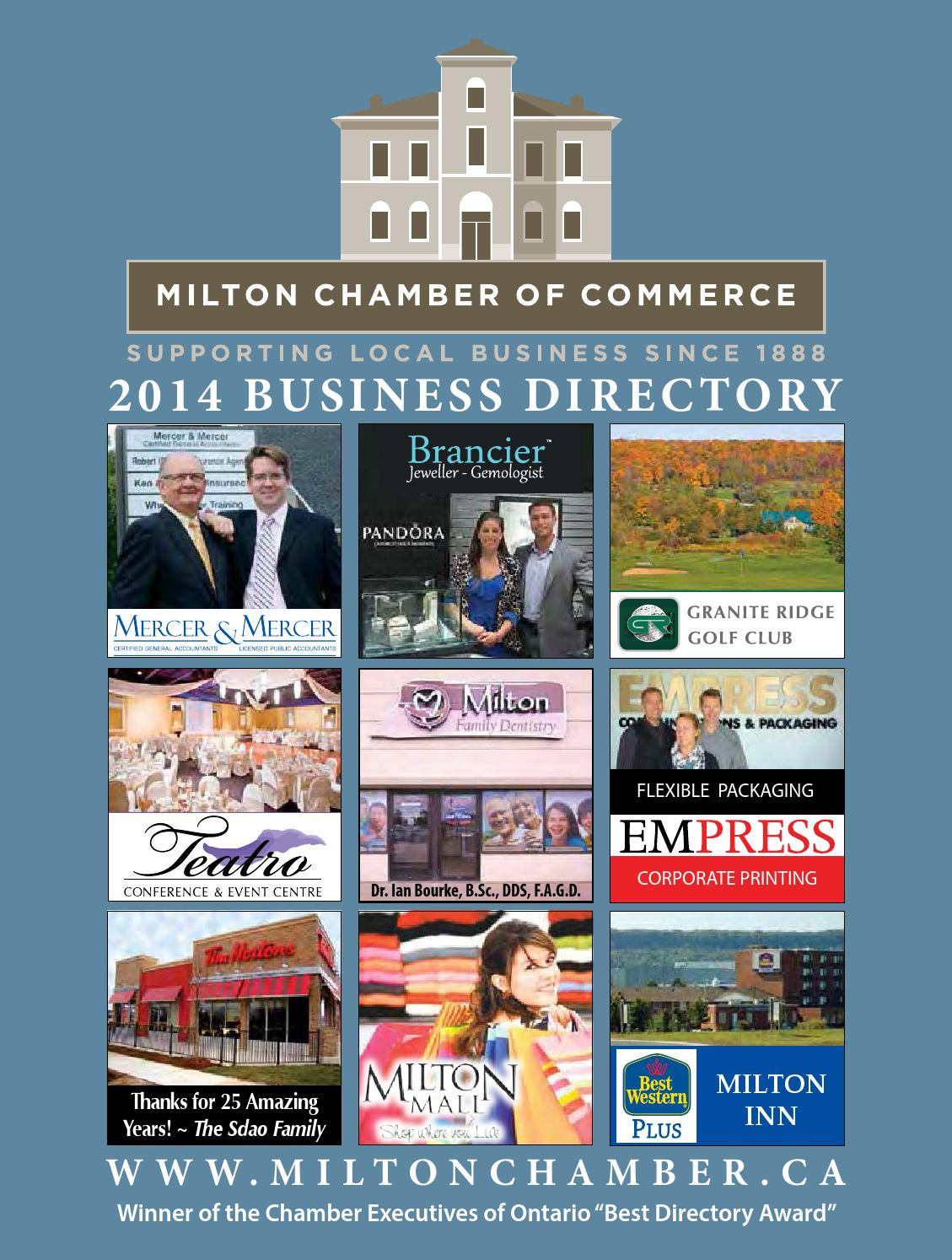 Milton Chamber of Commerce Business Directory by Milton