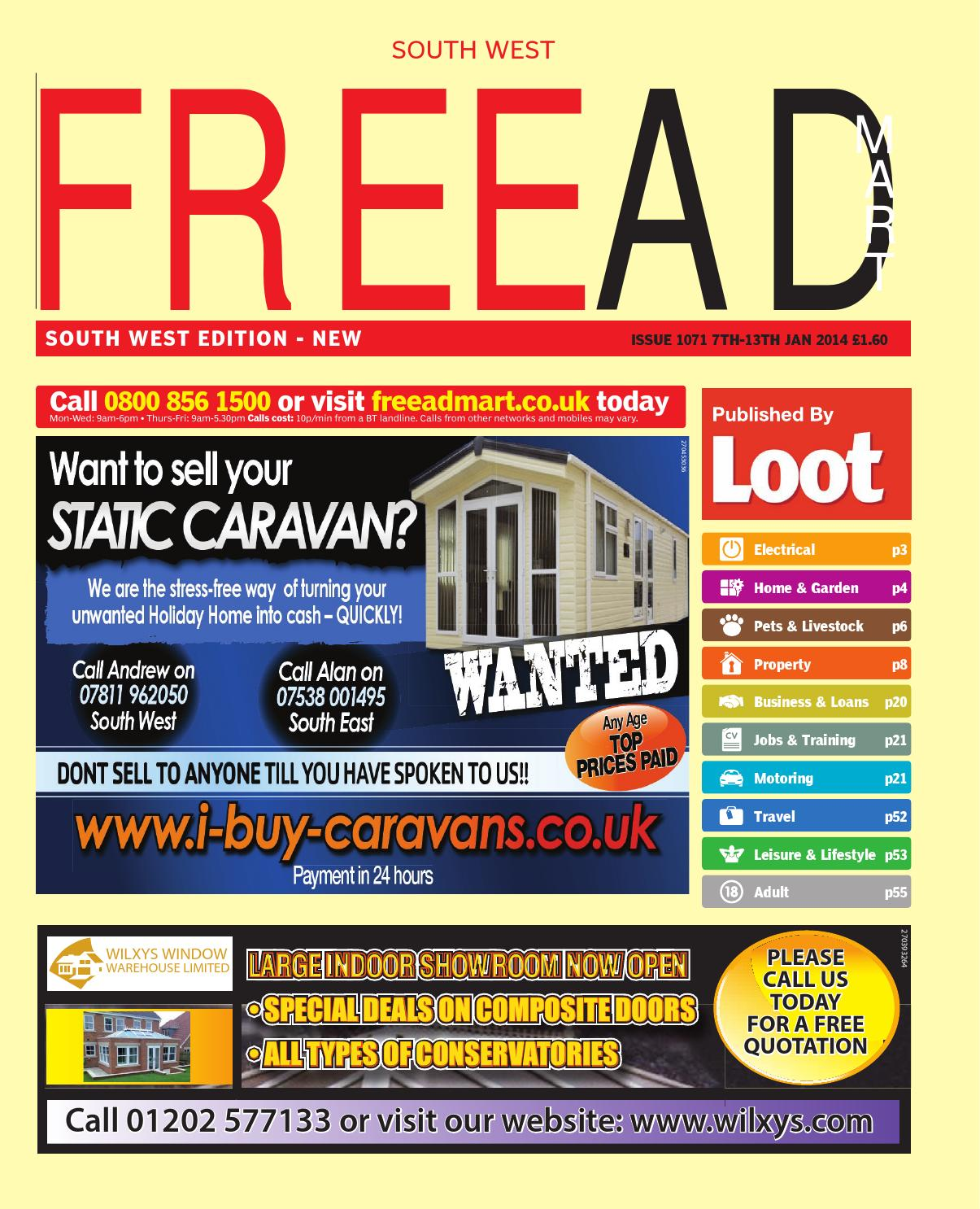 Free Ad Mart South West, 7th January 2014 by Loot - issuu
