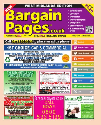 ab90b30286a Bargain Pages Midlands, 10th January 2014 by Loot - issuu