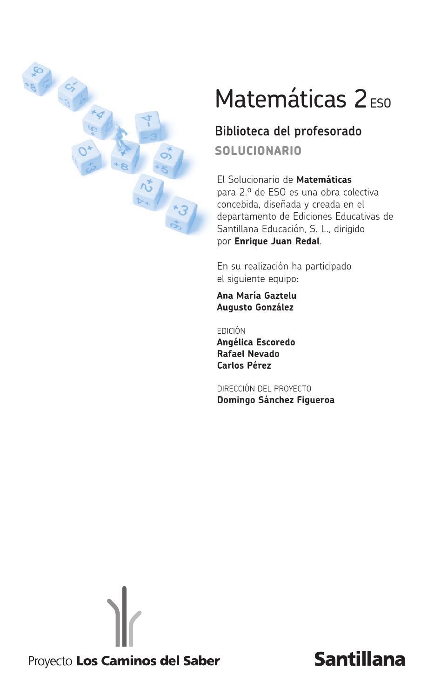Solucionario2eso matematicas by Iván - issuu